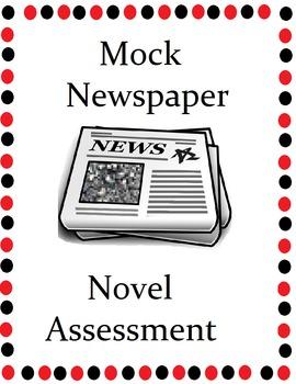 Mock Newspaper Novel Activity FREE