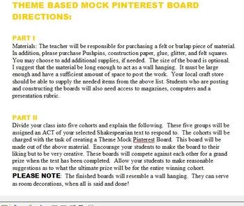 Mock Pinterest Board