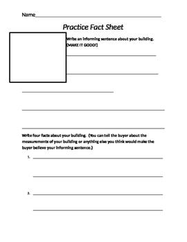 Mock Real Estate Fact Sheet