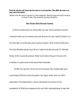 Test Prep: Bruno Mars Edit/Revise