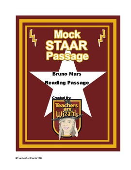 Mock STAAR PASSAGES: Bruno Mars