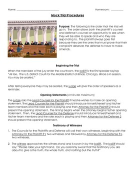 Mock Trial Graphic Organizers and Procedures