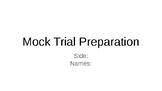 Mock Trial Preparation