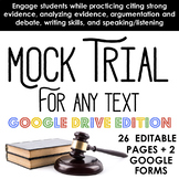 Mock Trial for ANY TEXT - Practice citing & analyzing evidence