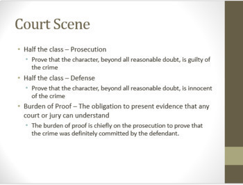 Mock Trial for Any Literary Character