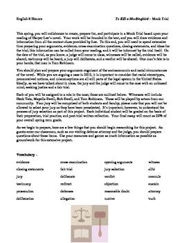 Mock Trial - To Kill a Mockingbird