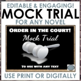 Mock Trial for any text! Grades 6-8 ELA, Editable