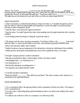 Mock Trial - generic materials to conduct a court case in the classroom