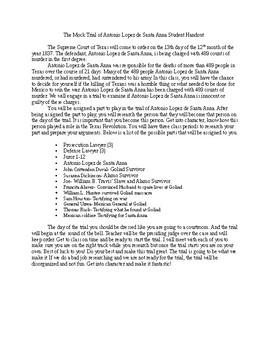 Mock Trial of Santa Anna