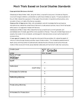 Mock Trials for 5th Grade