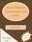 Mock Trials for Government and Civics Classes:Bundle