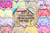 Mock Up Bundle - Crayons on rattan background flat lay sty