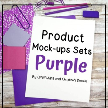 Mock-ups with Purple Supplies
