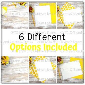 Mock-ups with Yellow Supplies
