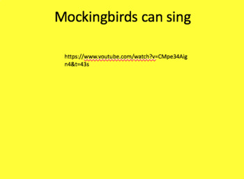 Mockingbird Factual Slideshow w/ Youtube Links