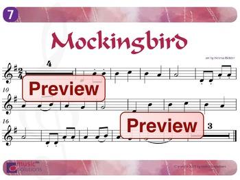 Mockingbird Flute And Oboe MP3 And PDF Unit 7.