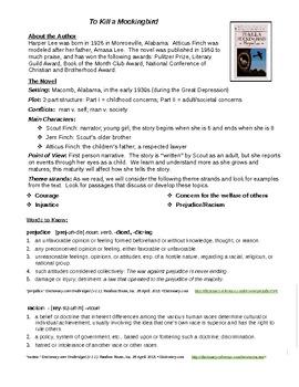 Mockingbird Introduction Handout