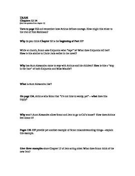Mockingbird Part 2 Study Guide