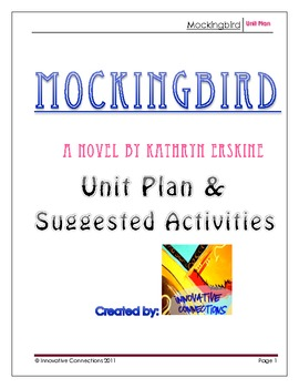 Mockingbird by K. Erskine: Novel Unit Planning Guide