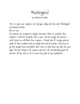 Mockingbird by Kathryn Erskine Ch. 5-8