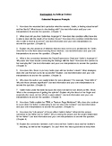 Mockingbird by Kathryn Erskine Extended Response Prompts