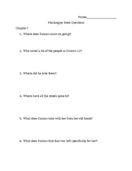 Mockingjay Book Questions and Answers