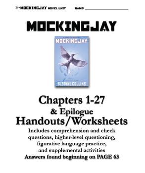 mockingjay chapters 1 27 questions handouts teacher s guide by rh teacherspayteachers com Mocking Jay Book Mockingjay Cast