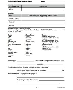 Mockingjay Part I Test & Study Guide with Key