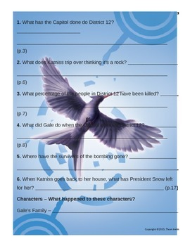 Mockingjay Questions and Vocabulary