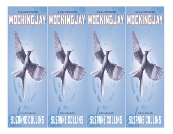 """""""Mockingjay"""" by S. Collins Bookmarks with Student Activity"""