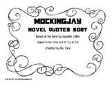 Mockingjay quote sort, CCSS aligned!