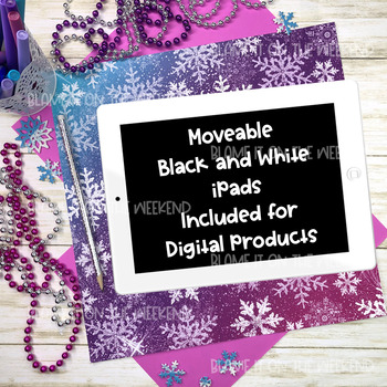Mockups Winter / Snow Photos and More | Movable iPad Parts for Staging