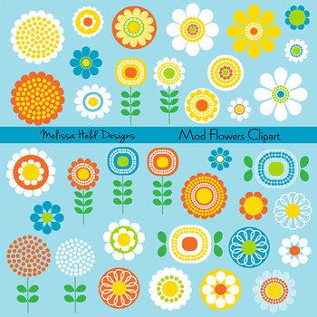 Clipart: Mod Flower Clip Art