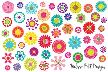 Mod Flowers Clipart