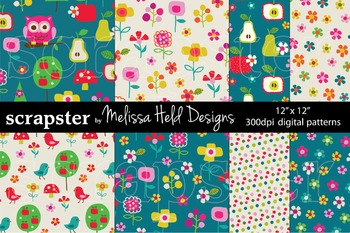 Mod Flowers and Birds Patterns