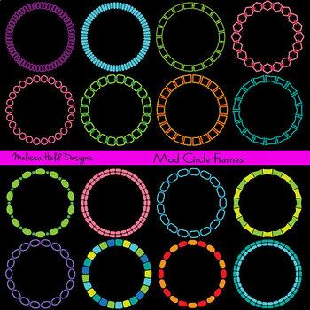 Mod Circle Frames Clipart