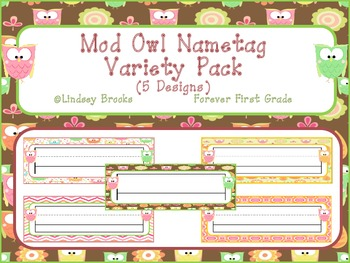 Owl Nametag Variety Pack (5 Designs)