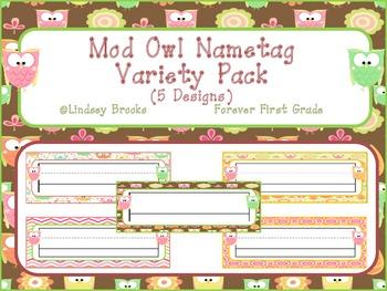 Owl Nametag Variety Pack (5 Designs)