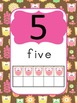 Owl Number Posters (0 to 20) with Ten Frames