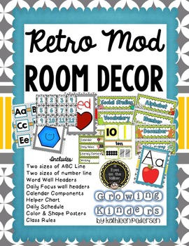 Mod Room Decor {ABC, Numbers, Calendar and So Much More!}