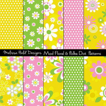 Mod Polka Dots and Spring Floral Patterns