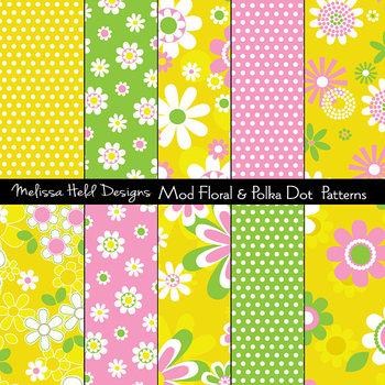 Mod Florals and Polka Dot Patterns