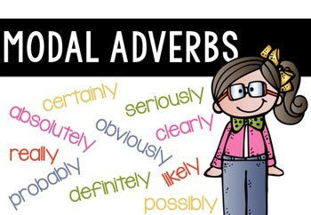 Modal Adverbs Persuasive Writing Freebie