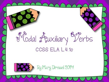 Modal Auxiliaries - Teach, practice with task cards, and assess