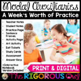Modal Auxiliaries Lesson with a Week's Worth of Practice