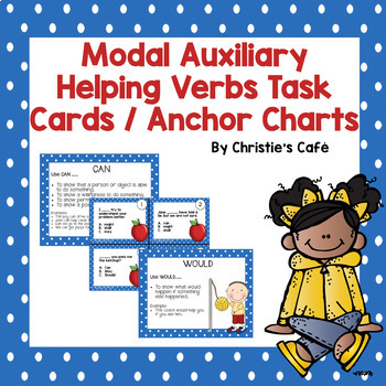 Modal Auxiliary Helping Verb Task Cards