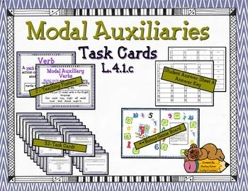 Modal Auxiliary Verb Task Cards