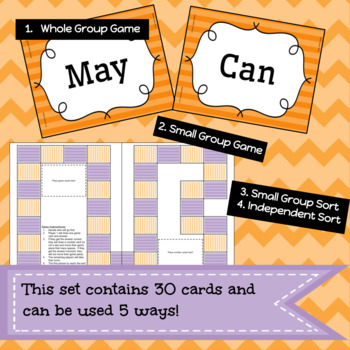 Modal Auxiliary Verbs Game/Sort Pack