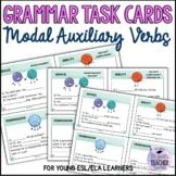 Modal Auxiliary Verbs Grammar Task Cards 3