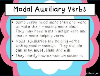 Modal Auxiliary Verbs  Mini Bundle